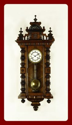 Antique Clocks Antique German or Germany Wall Clock ITS ABOUT