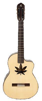 Guitarra española con cutaway. Modelo Melendi, de Francisco Bros.