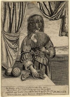 Summer by Peregrine Lowell after Hollar in reverse.  1647  Etching