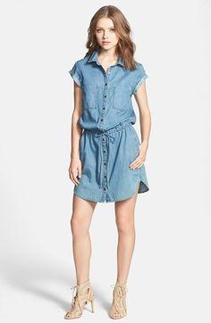 Paige Denim 'Mila' Denim Shirtdress available at #Nordstrom