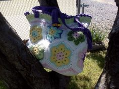 My favorite purse, is roomy and can even fit in my current crochet project