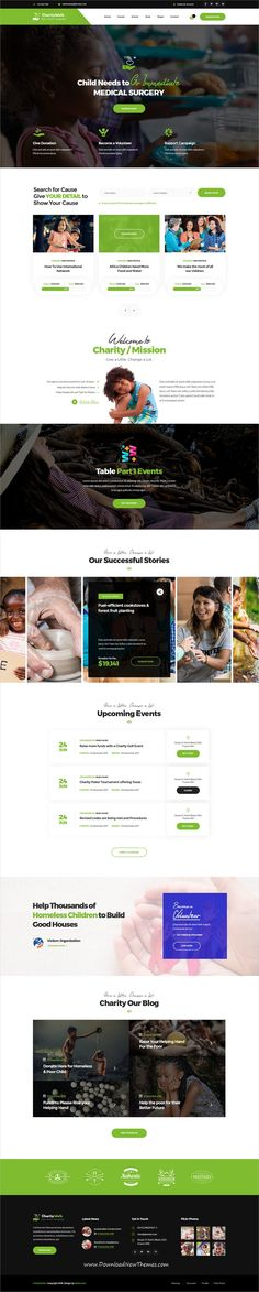 Charity Walk is clean and modern design #PSDtemplate for #Charity, donation, #fundraising and #nonprofit organizations website with 25 layered PSD files to live preview & download click on image or Visit #webdesign