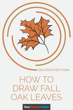 Learn to draw fall oak leaves. This step-by-step tutorial makes it easy. Kids and beginners alike can now draw great looking autumn oak leaves. Flower Pattern Drawing, Flower Drawing Tutorials, Drawing Tutorials For Kids, Easy Drawings For Kids, Drawing Flowers, Brush Drawing, Leaf Drawing, Spider Drawing, Drawing Tips
