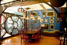 Jules Verne inspired office. I would totally work here.