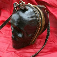 Hand-crafted Leather Skull Purse by HammeredCowLLC on Etsy