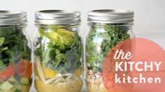 SALAD IN A JAR 5 WAYS // KITCHY HACK - The Kitchy Kitchen by @kitchykitchen