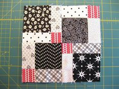 bitty bits & pieces: Kisses for Cade - tutorial for a split nine-patch quilt
