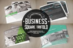 4 Business Square Trifold Bundle by Business Flyers on @creativemarket