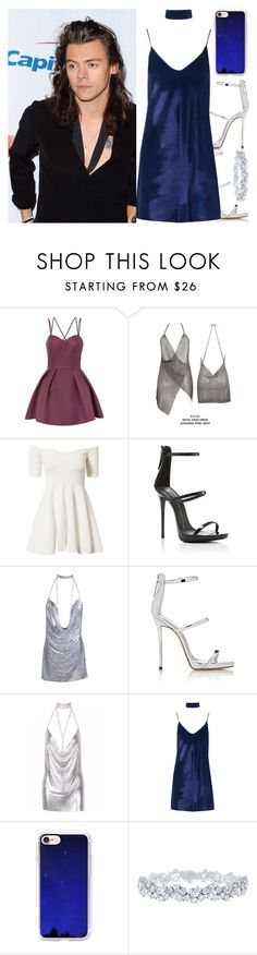 """With Harry"" by angelbrubisc ❤ liked on Polyvore featuring Chi Chi, John Zack, Giuseppe Zanotti, Boohoo, Casetify and Harry Winston"