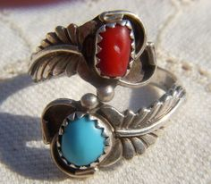Vintage Navajo RB Sterling Silver Ring Turquiose on Etsy, $55.00
