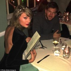Taylor Swift dons backless dress for romantic dinner with Calvin Harris | Daily Mail Online