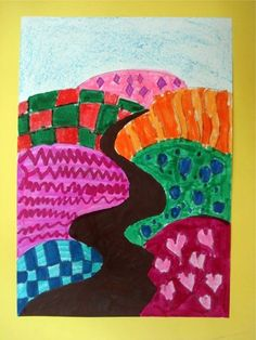 Artsonia is a kids art museum where young artists and students display their art for other kids worldwide to view. This gallery displays schools and student art projects in our museum and offer exciting lesson plan art project ideas. Third Grade Art, Grade 2, Zentangle, Elementary Art Rooms, School Painting, Perspective Art, School Art Projects, Kindergarten Art, Spring Art
