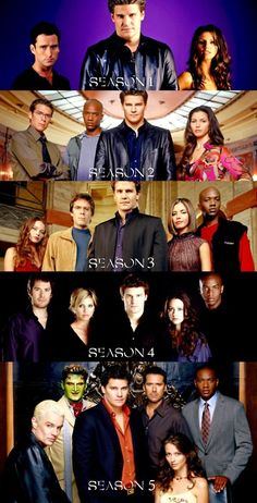 Angel cast from beginning to end, seasons 1-5