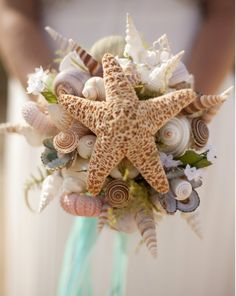 Resreved for Lynnmarie Wedding Seashell Bouquet for by caroledoc, $195.00
