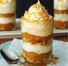No Bake Pumpkin Pie in a Jar and a Giveaway! - Life Love and Sugar