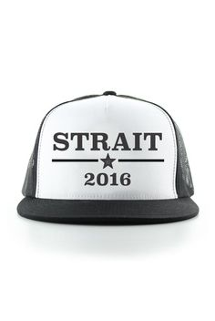 These Strait 2016 snapback hats are the best way to rock the vote. And especially perfect for country concerts and festivals. Also available in Underwood 2016 and Church 2016!
