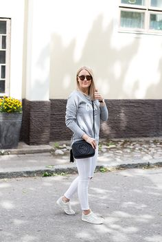 Gap sweatshirt, Topshop jeans, Gucci bag, Adidas sneakers Topshop Jeans, Gap, Adidas Sneakers, Gucci, Album, My Style, Sweatshirts, Women, Fashion