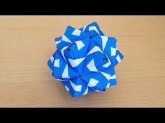 折り紙のくす玉 薗部式 裏出し30ユニット 折り方 Origami Kusudama sonobe inside out 30units - YouTube