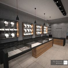 A small jewellery store in the center of the city with minimal style Clothing Store Design, Jewellery Shop Design, Jewellery Showroom, Jewellery Shops, Jewellery Display, Shop Counter Design, Showroom Interior Design, House Cladding, Sofa Bed Design