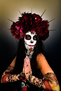 Face Paint: Noa Maria Photography: Ed van Rouwendal Sugar Skull Painting, Body Painting, Van, Photography, Fotografie, Photograph, Bodypainting, Vans, Photo Shoot