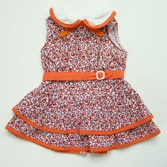 American Girl Kit Doll Feed Sack Print Scooter Dress Pristine HTF #AmericanGirl