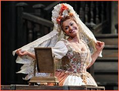Costume the Marriage of Figaro by Mozart. Photo of soprano Daniella Di Niese.