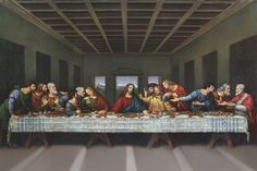 """Leonardo Da Vinci - """"The Last Supper""""  In Milan, the Sforza's commissioned such works as Leonardo's Last Supper."""