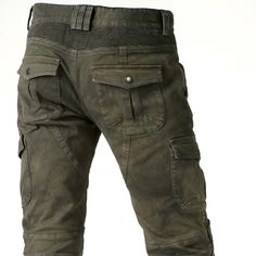 uglyBROS Motorpool Motorcycle Trousers - Stained Olive | Motorcycle Trousers | FREE UK delivery - The Cafe Racer