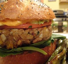 """Black-Eyed Pea Burgers with Mississippi Comeback Sauce   The """"V"""" Word"""