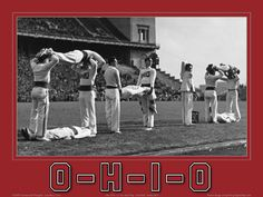 Buckeyes Football Pictures Poster, Old Historic Archival Ohio State ... O-H-I-O