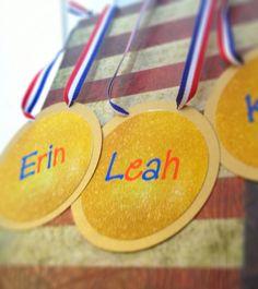 Gymnastics birthday party, gymnasts favor tags, gymnastics invitations, personalized and printed gymnastics party via Etsy