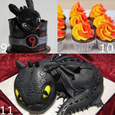 Toothless and How to Train Your Dragon Birthday Party ideas, cakes, food, decorations, games, and supplies. Perfect for your little Dragon Trainer in training. Definitely using these party ideas for my son's birthday next month!