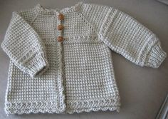 newborn crocheted hooded sweater pattern | Tunisian Crocheted Baby Sweater by CarlaJC | Crocheting Ideas
