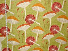 Retro mushroom fabric craftsman modern graphic from Brick House Fabric: Novelty Fabric