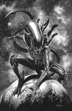 Arte Alien, Alien Art, Aliens, Science Fiction, Comic Prices, Sara C, Horror, Alien Vs Predator, Marvel Wallpaper