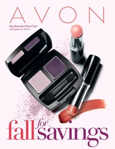 Fall for Savings Avon Campaign 20 / 19 - view Avon campaign 19 2014 catalogs online. http://www.makeupmarketingonline.com/avon-campaign-19-2014/ #avon #avoncatalog #avoncampaign19