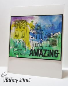 Amazing Brushos Houses by nancy littrell - Cards and Paper Crafts at Splitcoaststampers