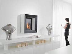 Fireplaces with bio-ethanol - Safretti Stove Fireplace, Modern Room, Living Room, Furniture, Stoves, Design, Fireplaces, Home Decor, Berlin