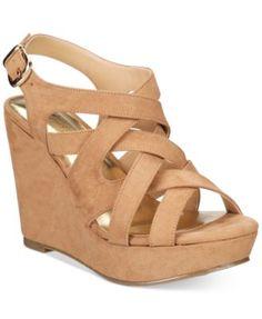 4495b12aae9c Thalia Sodi Maddora Platform Wide-Width Wedge Sandals