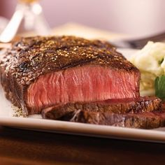Omaha Steaks Top Sirloins have a hearty steak flavor that you can't find anywhere else. Lean, firm and full of flavor these steaks are a true grilling sens Omaha Steaks 8 oz. Steak And Mushrooms, Grilled Mushrooms, Stuffed Mushrooms, Sirloin Steak Recipes, Top Sirloin Steak, Rump Steak, Meat Recipes, Gourmet Recipes, Cooking Recipes