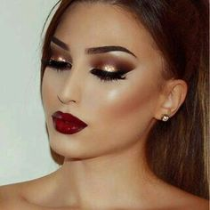 Full face glam makeup