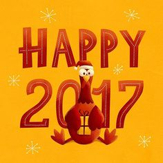 Happy new year to all ;) Thanks to everybody for your support in this year. — #christmas #newyear2017 #designspiration #draw #illustration #graphicdesign #inspiration #art #designer #rooster #chiken #lettering #digitalart #иллюстрация #новыйгод2017