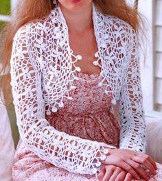 Stylish Easy Crochet Shrug - with pattern!