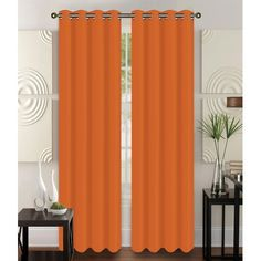 Glory Home Design Christina Solid Semi-Sheer Grommet Curtain Panels Color: Turquoise Sheer Curtain Panels, Rod Pocket Curtains, Grommet Curtains, Curtain Rods, Coral Curtains, Patio Curtains, Colorful Curtains, Curtain Styles, Thermal Curtains