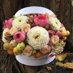 Flowers + fruits = Flowerdipity Autumn  #flowers #fruits #autumn #box Autumn Flowers, Fruit Arrangements, Box, Fall Flowers, Snare Drum, Outdoor Fall Flowers, Fruit Displays