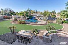 Backyard landscape of house for sale in Phoenix, AZ