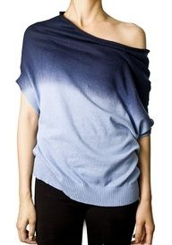 off shoulder dip dye sweater
