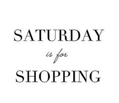 Retail Therapy #HappySaturday