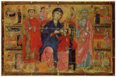 """""""Virgin and Child Enthroned with Saints Leonard and Peter,"""" c. 1270."""