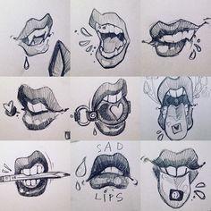 List of 8 best Funny Art Sketches in week 9 Illustration Sketches, Art Sketches, Funny Illustration, Tattoo Drawings, Art Drawings, Drawings Of Mouths, Sketch Instagram, Instagram Funny, Mouth Drawing